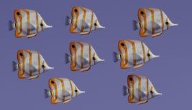 3d Odpłacają się Copperband Butterflyfish Fotografia Royalty Free