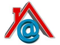 3D Odpłacają się domowego emaila znaka Zdjęcie Royalty Free