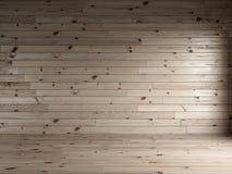 3d odpłacają się drewniane deski wewnętrzny z naturalną podłoga Zdjęcia Royalty Free