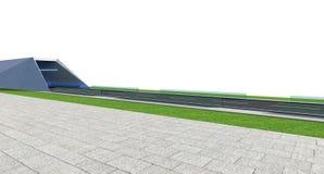 3d Odpłacają się drogę z tunelem i greenfield royalty ilustracja