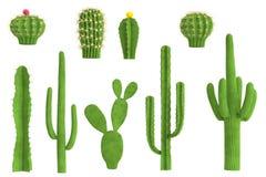3d odpłacają się kaktusa set Obrazy Royalty Free