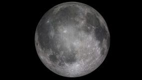 3d Odpłacają się księżyc w pełni Obraz Stock