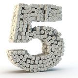 3D odpłacają się liczbę pięć Obrazy Stock