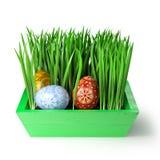 3D odpłacają się 3 ludowego Easter jajka Obrazy Royalty Free