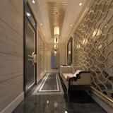 3d odpłacają się luksusowy budynku klozet royalty ilustracja