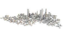 3d odpłacają się miasteczko od above lub miasto Obrazy Stock