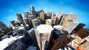 3D odpłacają się miasto Zdjęcia Stock