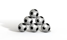 3d odpłacają się na brogować piłkach Zdjęcie Stock