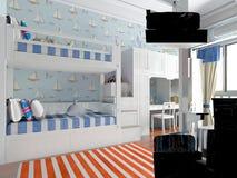 3d odpłacają się nastolatek sypialnia Zdjęcia Stock