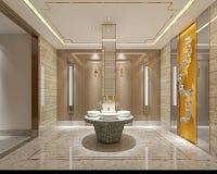 3d odpłacają się nowożytną toaletę ilustracja wektor
