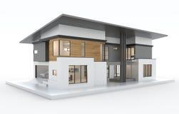 3d odpłacają się nowożytny dom odizolowywają ilustracja wektor