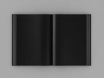 3d odpłacają się otwartą czarną książkę Zdjęcie Stock