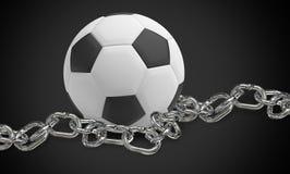 3d odpłacają się przykuwającą futbolową czarną tło projekta ilustrację Fotografia Stock