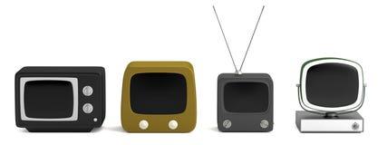 3d odpłacają się retro telewizor royalty ilustracja