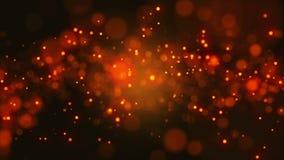3D odpłacają się tło abstrakcjonistycznej cząsteczki przypadkowy rozmiar, poruszający na dobrze i zamazują zbiory