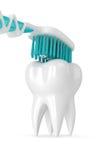 3d odpłacają się toothbrush cleaning ząb Zdjęcia Stock