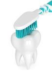 3d odpłacają się toothbrush cleaning ząb Obraz Stock