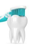 3d odpłacają się toothbrush cleaning ząb Fotografia Royalty Free