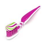 3d odpłacają się toothbrush z pasta do zębów nad bielem Obraz Stock