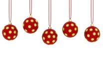 3d Odpłacają się Wiszący Czerwoni ornamenty royalty ilustracja