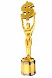 3d odpłacają się Złotego Dolarowego znaka trofeum Zdjęcie Royalty Free
