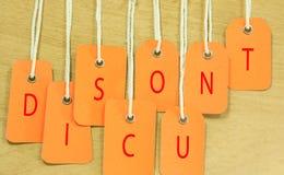 3d odpłacająca się dyskontowa ilustracja etykietki Fotografia Stock