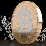 3D odpłacający się Bitcoin Fotografia Stock