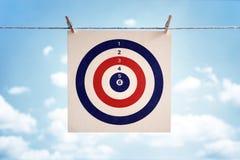 3d odpłacający się biznesowy obrazek cel zdjęcia stock