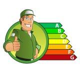 3d odpłacający się energetyczny wydajność obrazek Zdjęcia Royalty Free