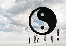 3d odpłacający się pojęcie balansowy obrazek Obrazy Royalty Free