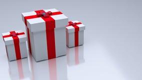 3d odpłacający się prezenty Zdjęcia Stock