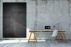 3D odpłacający się przemysłowy stylowy miejsce pracy Zdjęcie Royalty Free