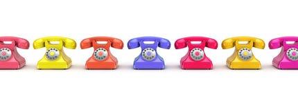 3d odpłacający się retro telefon Fotografia Stock