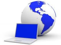 3d odpłacający się sieć komputerowa obrazek Zdjęcia Royalty Free