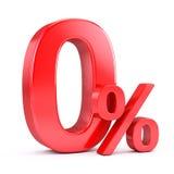 3d odpłacający się zero wizerunku procent Fotografia Stock