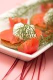 D'oeuvre di color salmone di Hor Immagine Stock