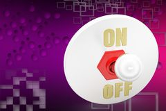3d on off switch illustration Stock Image