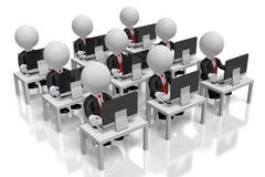 3D office/centrum telefonicznego pojęcie royalty ilustracja