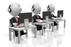 3D office/centrum telefonicznego pojęcie ilustracji