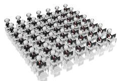 3D office/centrum telefonicznego pojęcie ilustracja wektor