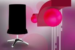 3d office chair illustration Stock Photos