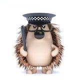 3d Officer hedgehog Stock Images