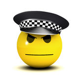 3d Officer smiley Stock Photo