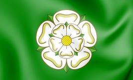 3D Officieuze Vlag van North Yorkshire-Provincie, Engeland stock illustratie