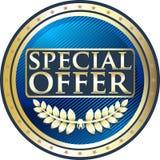 Or d'offre spéciale et icône bleue de médaille illustration libre de droits