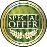 Or d'offre spéciale et icône verte de label illustration stock