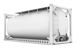 3d offshore oil tank, blank container. On white background 3D illustration royalty free illustration