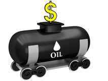 3D Oil barrel Royalty Free Stock Images