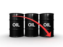 3d Oil barrel Stock Images