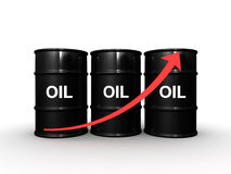3d Oil barrel Royalty Free Stock Photo